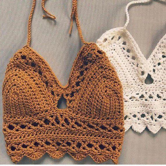The Staycation Crochet Top - Boho Crocheted Bra Pattern - The Snugglery