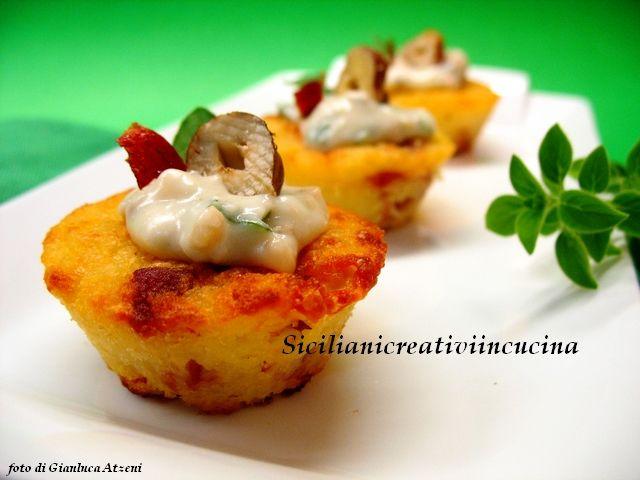 Sformatini di patate, speck e taleggio