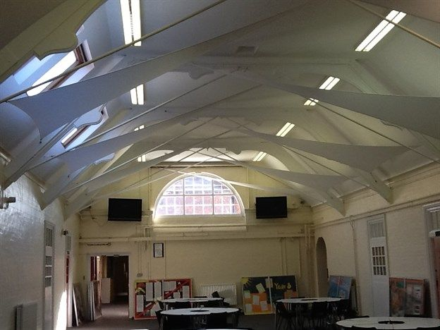 School hall noise reduction | Uxbridge College