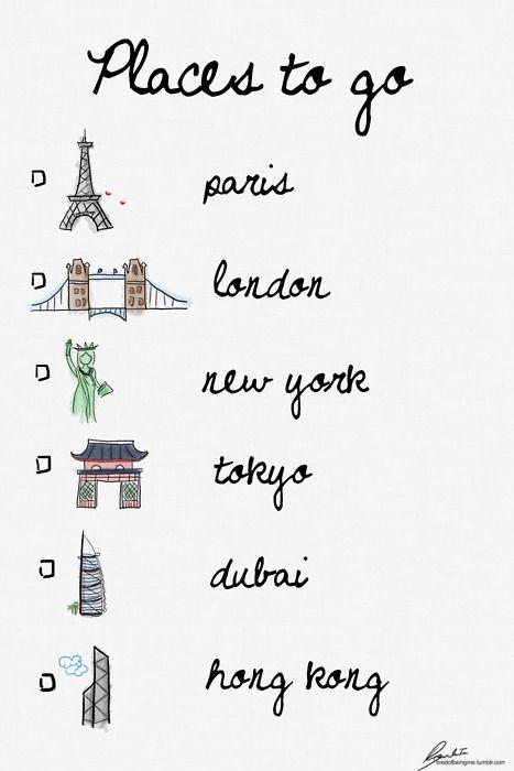 London: Check; Paris: Check: Bucketlist, Bucket List, Favorite Places, Dream, Check List, Places I D, New York, Travel, Wanderlust