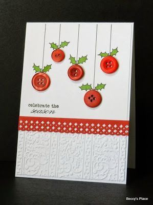 Tarjetas de Navidad Con Botones (9) Más