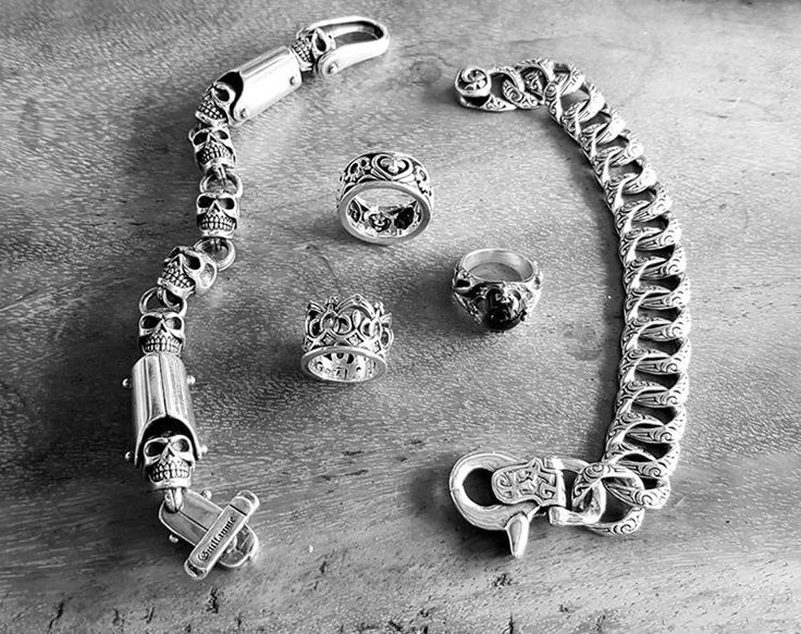 Lovely Sterling Silver Rings and Bracelets are Guillaume and Devarose Collections by Onyx Jewelry Boutique.