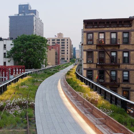 The High Line - all stories   by James Corner Field Operations  and Diller Scofidio + Renfro      street view http://laughingsquid.com/strolling-the-high-line-in-new-york-city-with-google-street-view/