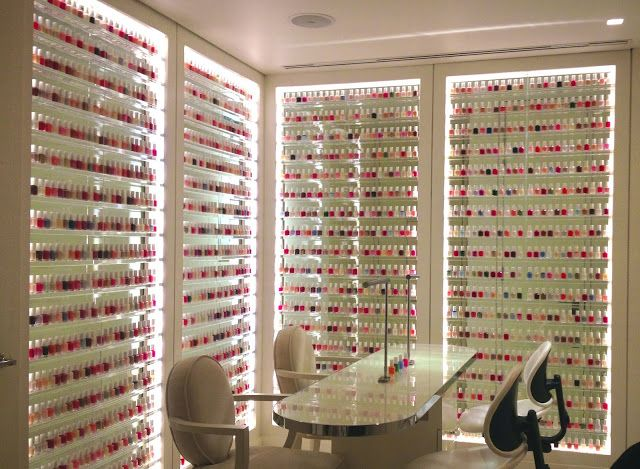 Nail Polish Room @Veronica Almanza Saucedaónica Sartori chavez i can totally see u having a room like this in your home