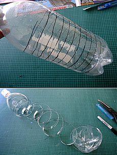 Чистка слива при помощи пластиковой бутылки.