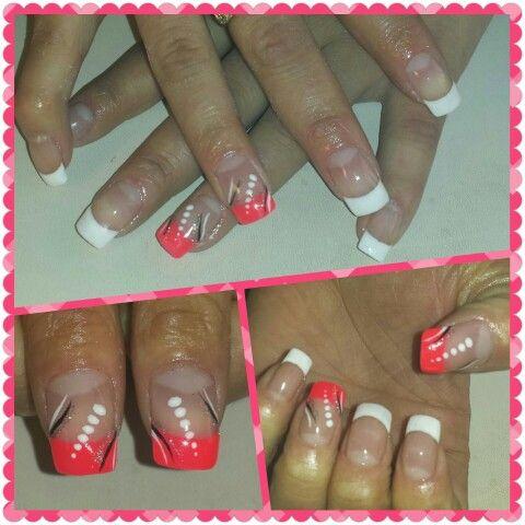 Coral (uñas de gel Romina en facebook)