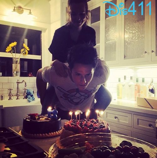 Photo: Bridgit Mendler Celebrating Shane Harper's Birthday February 15, 2014