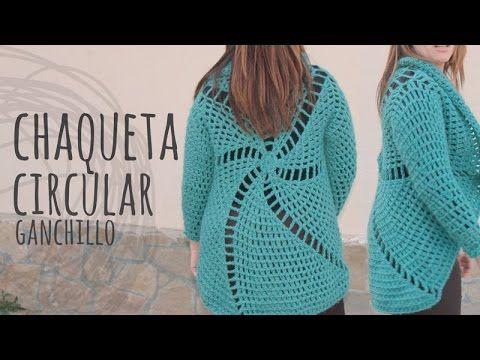 Tutorial Chaqueta Circular Fácil y Rápida Ganchillo | Crochet ¡Todas las tallas! - YouTube