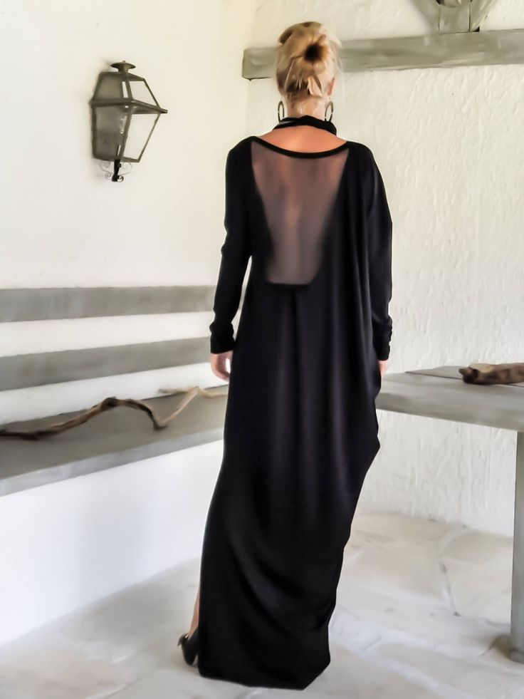 Excited to share the latest addition to my #etsy shop: Black Maxi Dress / Evening Dress / Party Dress / Open Back Dress / Dress with slit / Sexy Dress / #35098