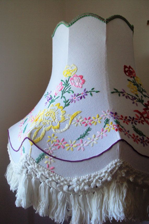 Hand made standard lampshade in vintage floral by Horseandhair, £90.00