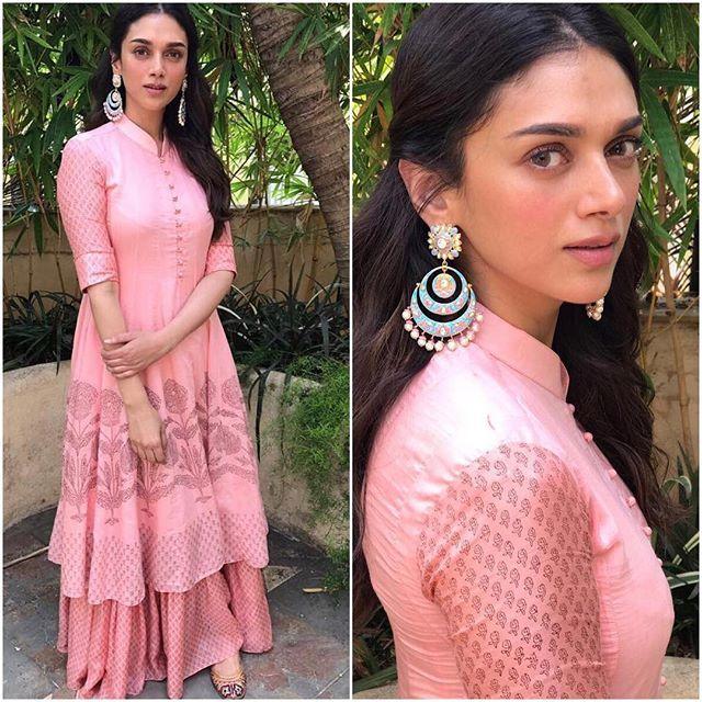 @aditiraohydari Outfit - @_myoho_ Earrings - @minerali_store Styled by - @sanamratansi Assisted by - @anushka_09 #bollywood #style #fashion #beauty #bollywoodstyle #bollywoodfashion #indianfashion #celebstyle #aditiraohydari #myoho