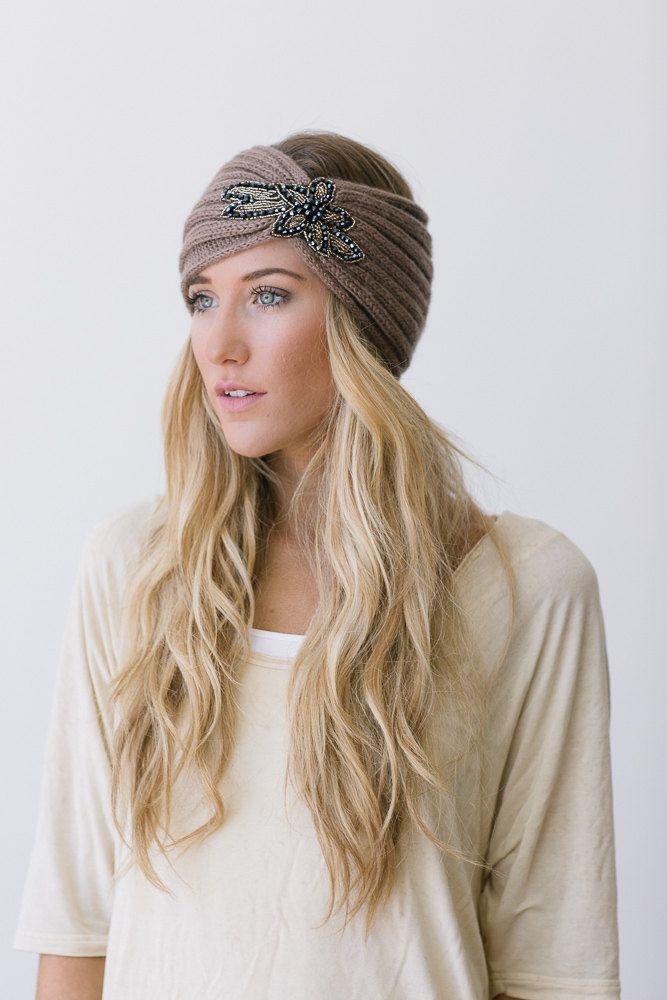 Crystalline+Knitted+Headband+Bohemian+Accessories+by+ThreeBirdNest,+$38.00