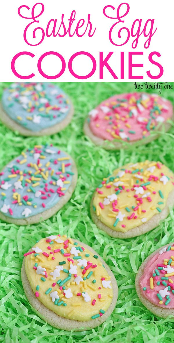 Easter Egg Cookies! No rolling or cutting needed!