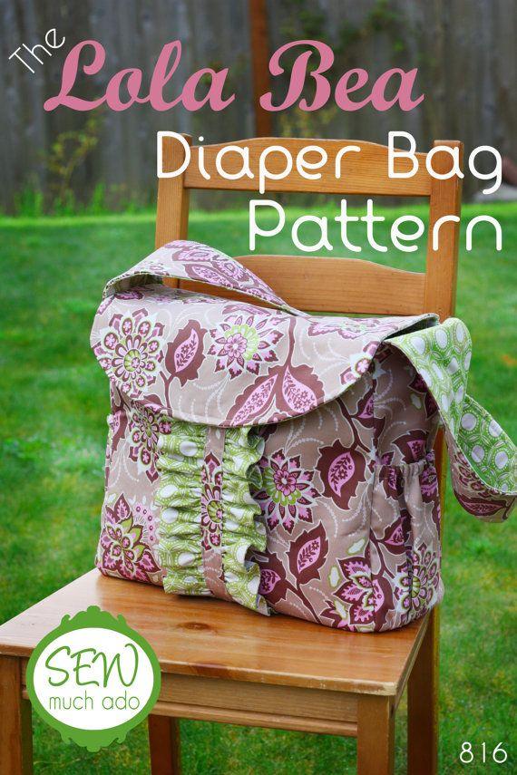 Diaper Bag Pattern - The Lola Bea Diaper Bag Pattern. $9.00, via Etsy.