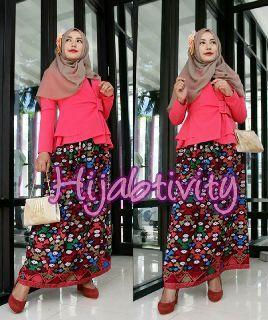 Nafisah Blazer: Bhn Wedges High Quality.. All size @160rb. Alysha Ethnic Skirt: Bhn Polyester High Quality..Motif Etnik Nusantara.. All size @130rb