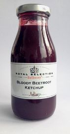 Belberry Bloody Beetroot Ketchup - Ketchup van rode bieten  Deze ketchup is gemaakt van Rode Bieten, een vergeten groente, die goed tot haar recht komt in deze ketchup.