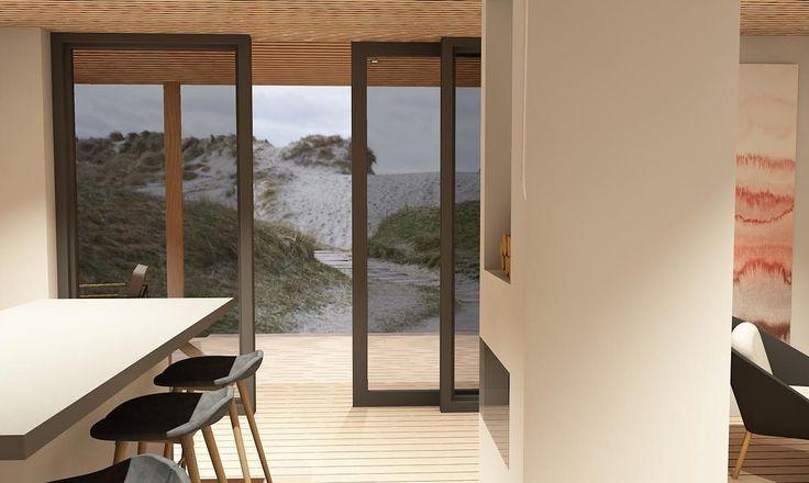 A luxurious sand dune view with an open kitchen and living room space    Er ikke så verst når man kan ha sanddyne utsikt rett ut fra en åpen kjøkken og stue løsning            #ekomod #architecture #design #interior #futurehouses #sustainable #ecologoical #renewableenergy #norway #stavanger #norwegiandesign #scandinavianliving #home #nature #architecturephotography #simplicity #instadesign #igers #vscocam #retrostyle #art #estheticlabel #picoftheday #ig_minimalisms  #architexture…