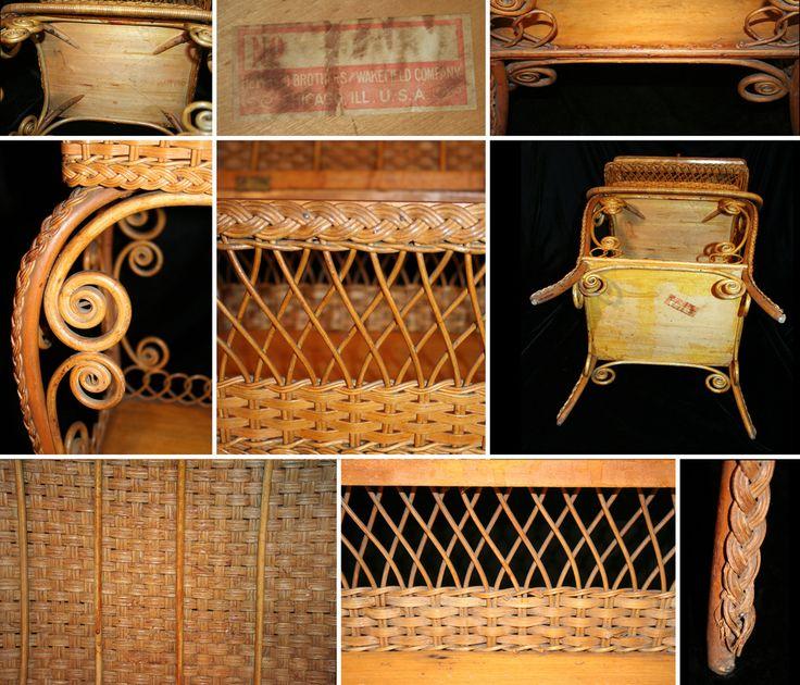 Hayward Wakefield Wicker Sewing Basket