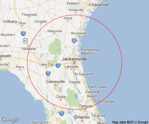 Jacksonville Florida Day Trips and One Tank Trips 100 Miles Or Less One Way