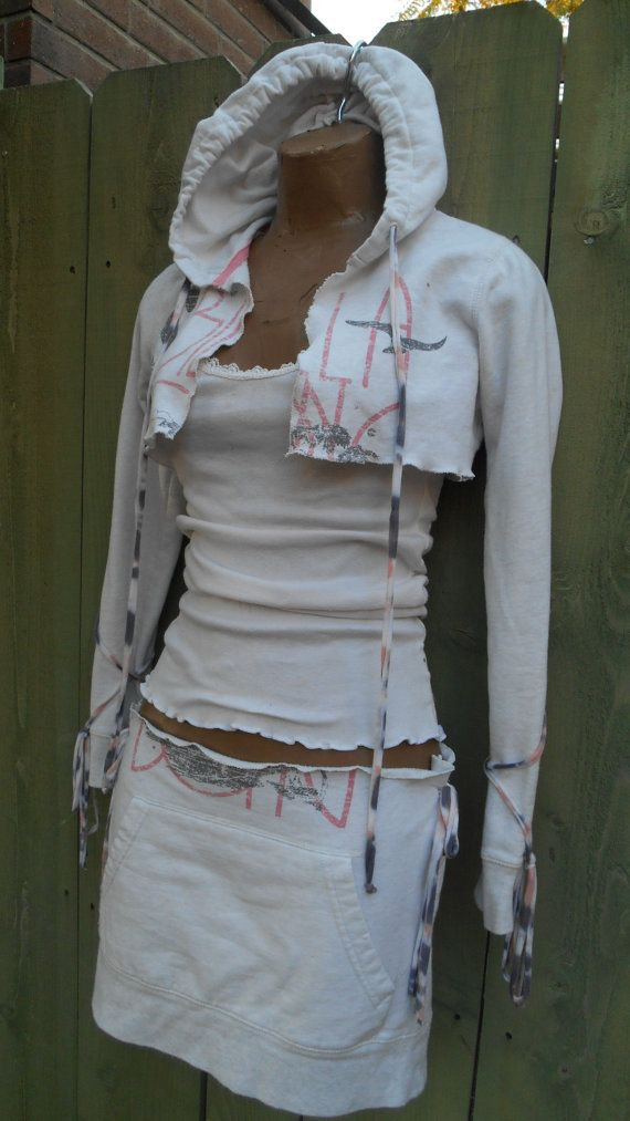 Eco Up Cycled Clothing/ Hippie/ Tattered/ Pixie/ by loveysworld, $25.00