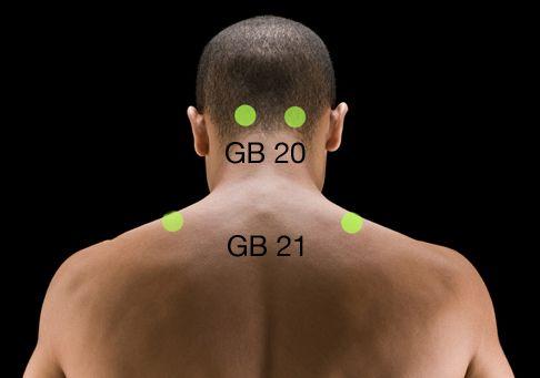 GB 20 and GB 21 #ChineseMedicine #Massage #TCM #MeridianMassage