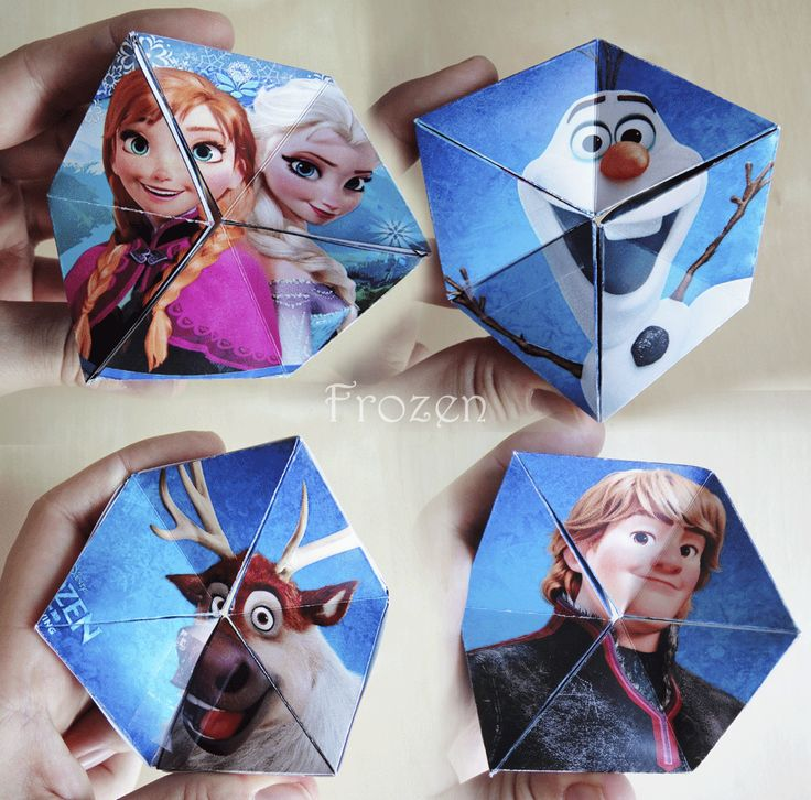 Make your own Kaleidocycle with Disney's Frozen! Free printable and instructions on Hattifant's website!