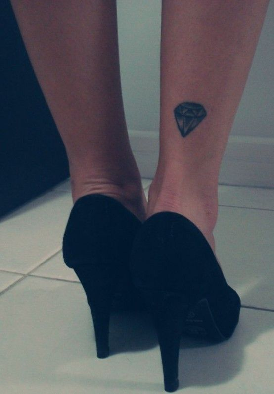 I love the simplicity of this and the unexpected placement #tattoos #diamond #forever