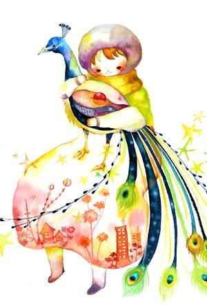 [일러스트] 築地麻衣 (츠키지 마이)님의 어린이의 순수함과 따뜻한 색감이 돋보이는 수채화 일러스트 2편 :: 네이버 블로그