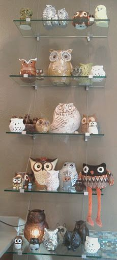 my owl collection -kristy   @Heather Phipps