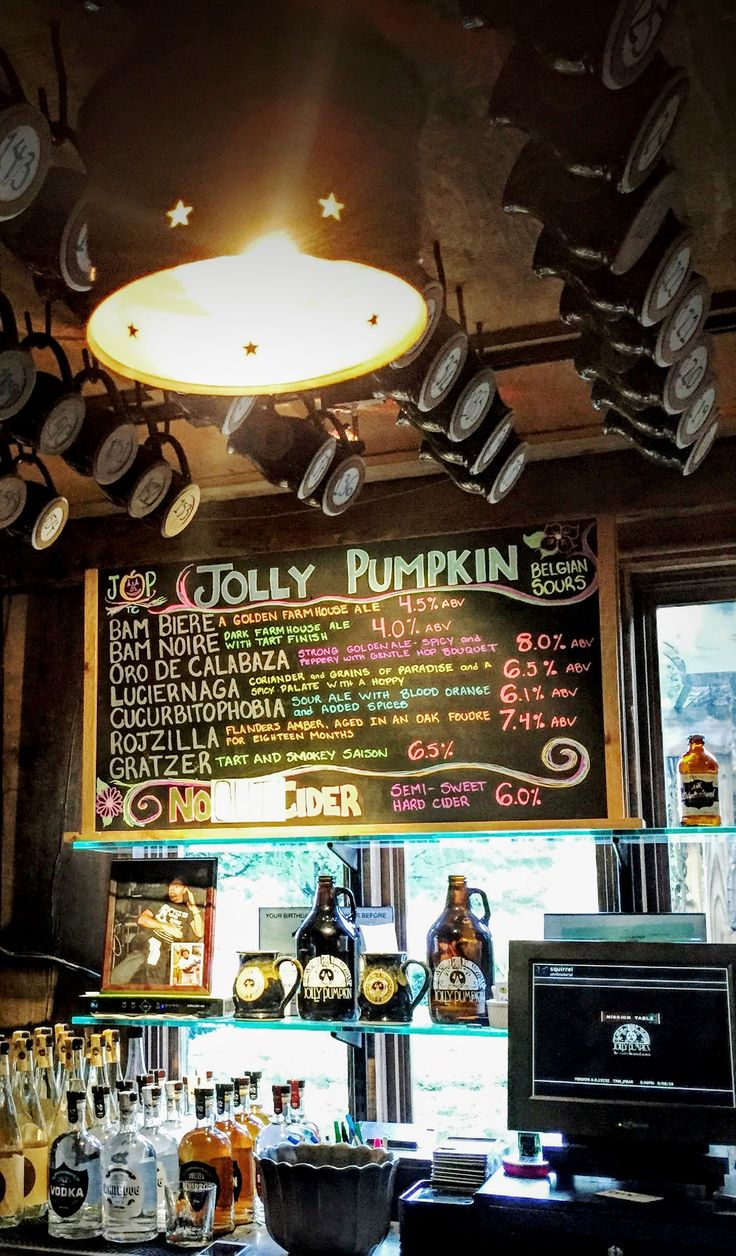 The Jolly Pumpkin is known for their sour beers. Make sure you try the Bam Biere, a golden farmhouse ale with spicy malts and hops.