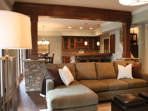 Cozy Hangout: a mix of traditional and modern http://www.hgtv.com/specialty-rooms/10-basement-spaces-for-everyone/pictures/page-4.html?soc=pinterest
