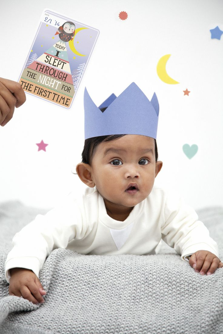 Today I slept through the night for the first time! MILESTONE Baby Cards. Set of 30 cards to capture your baby's first year in weeks, months and big events. www.milestonecards.com