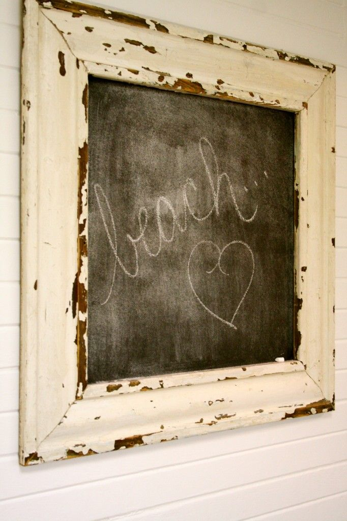 love this: Beaches Signs, Chalkboard Frames, Distressed Chalkboards, Chalk Boards, Old Frames, Chalkboards Signs, Messages Chalkboards, Chalkboards Frames, Beaches Cottages