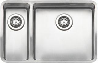 Reginox Elite Ohio 18x40-40x40 L Stainless Steel Integrated Kitchen Sink