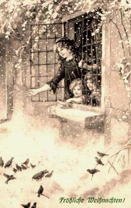 Froehliche Weinachten! (Merry Christmas) Vintage German Christmas card.