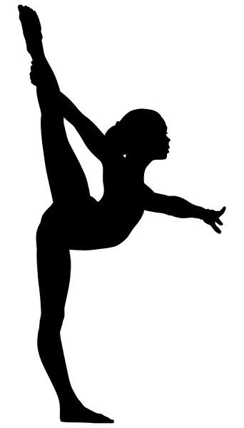 Nice silhouette. Use it with an app like Picsartt. Add your gymnast's name, print & frame. Viola!!, cute wall art for her room.