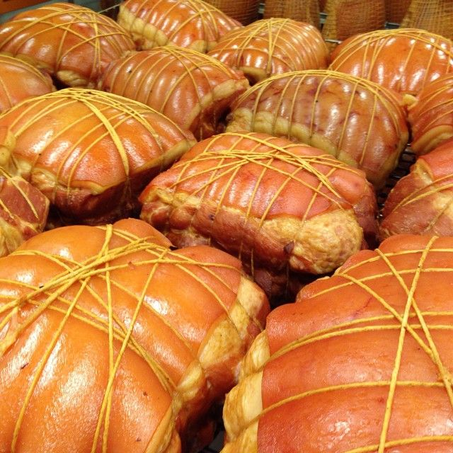 """The art of the craft of hand tying ham. This is a traditional """"metzger""""/butchers ham. www.andrewschoice.com.au"""