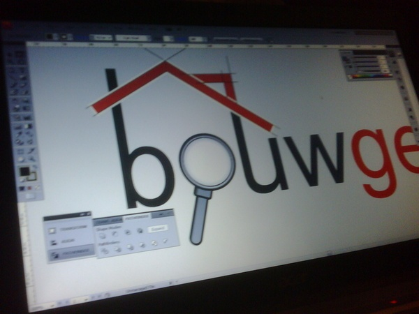 A conceptlogo for the site 'Bouwgegevens.nl'. Lost the pitch. The company was also dead within a few months.