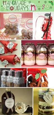 Time to start planning - Fabulous gift ideas,...   1. Cocoa Candy Cane Marshmallows  2. Cranberry Infused Vodka  3. Gingerbread Caramels  4. Cowgirl Cookies   5. DIY: Smores Kits   6. Gingersnap Palmiers   7. Homemade Vanilla   8. Mocha Cocoa