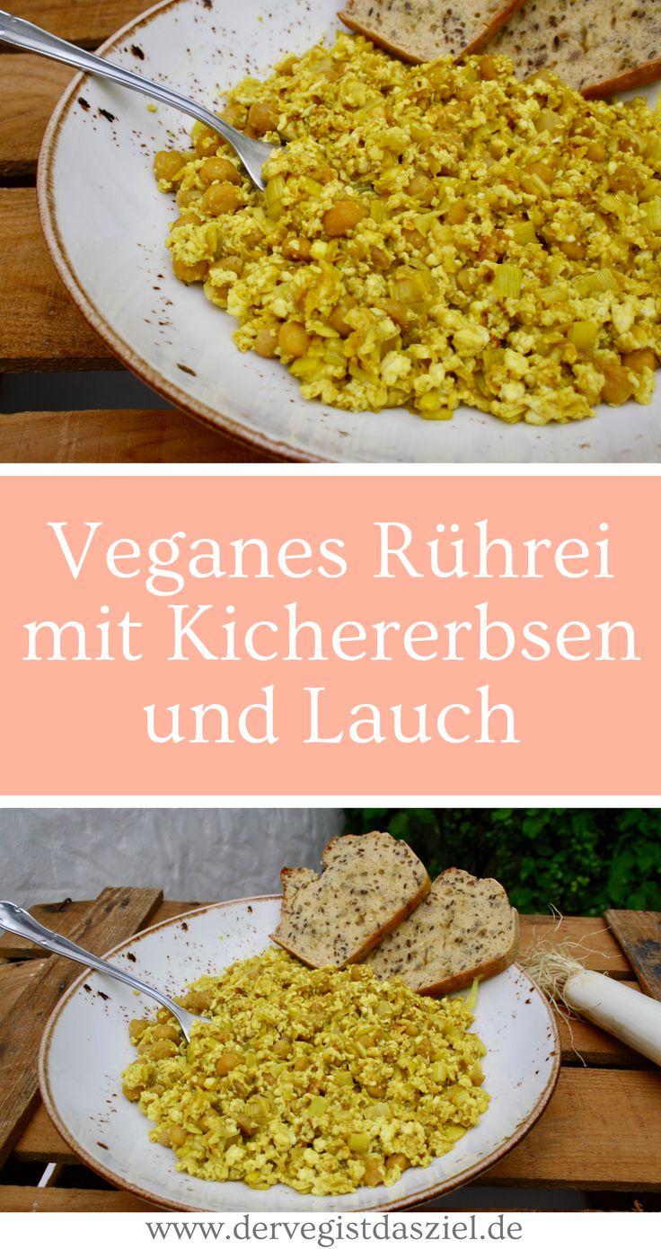Veganes Rührei mit Kichererbsen und Lauch, glutenfrei