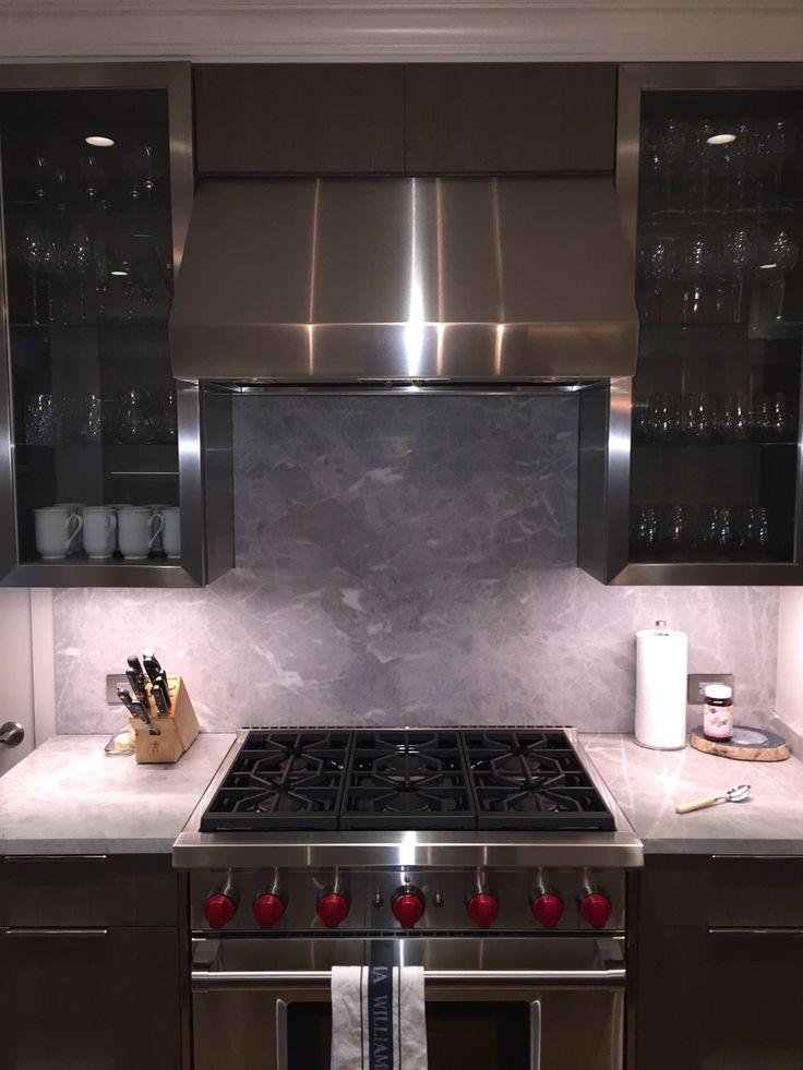 grey marble backsplash kitchen