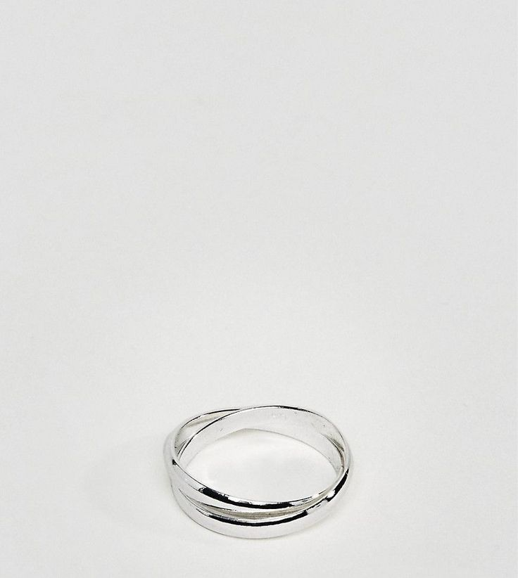 DesignB Burnished Silver Signet Pinkie Ring Exclusive To ASOS - Silver DesignB London kteBuT
