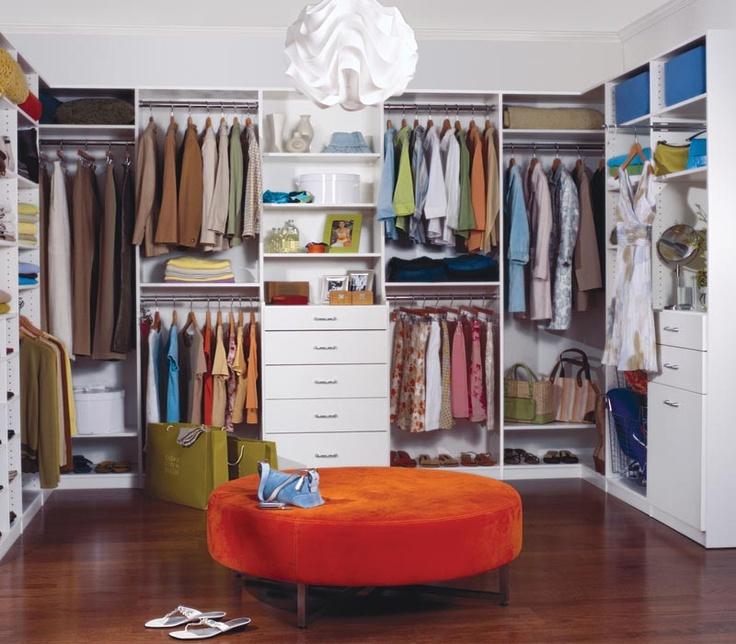 walk-in closet plus storage on top.