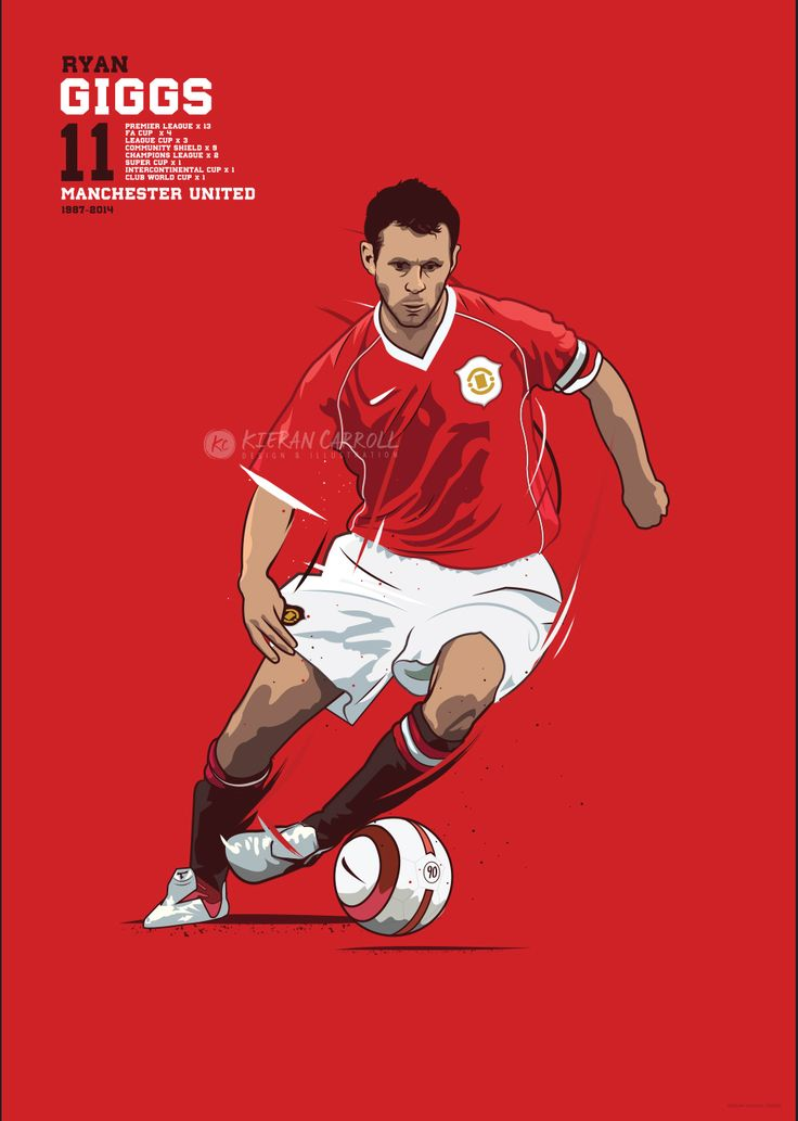 Illustration of Manchester United legend Ryan Giggs