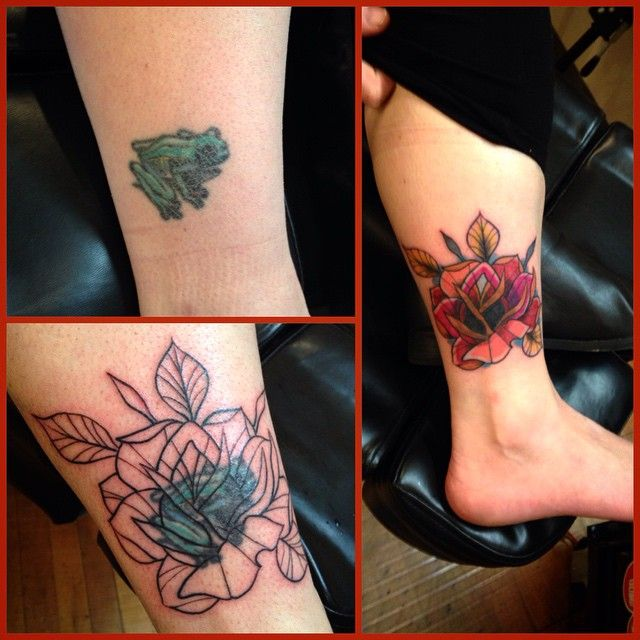 Matthew Limbers @ The Shop #theshop #tattoo #tattoos #tattoo #coverup #rose #matthewlimbers tattoo