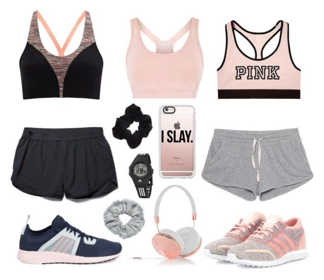 """""""Sport"""" by julimoli27 on Polyvore featuring moda, Sweaty Betty, adidas, Victoria's Secret, American Vintage, Under Armour, Frends, Casetify y Monki"""