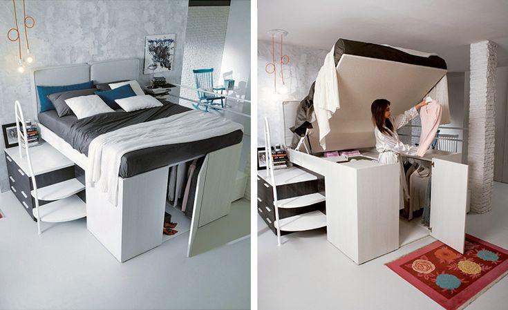A Full Closet Is Hidden Under This Bed