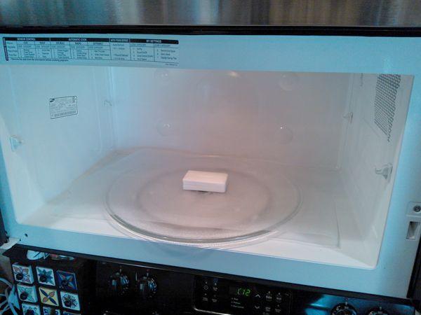 soap in microwave