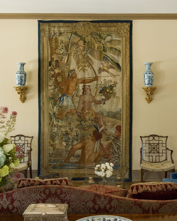 Beauvais tapestry depicting the Americas circa 1600's www.lindafloyd.com