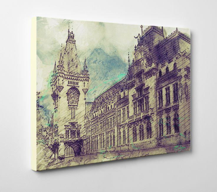 Palatul Culturii Iasi  #original #iasi #architecture #sketch #painting #palace #palat # palatulculturii